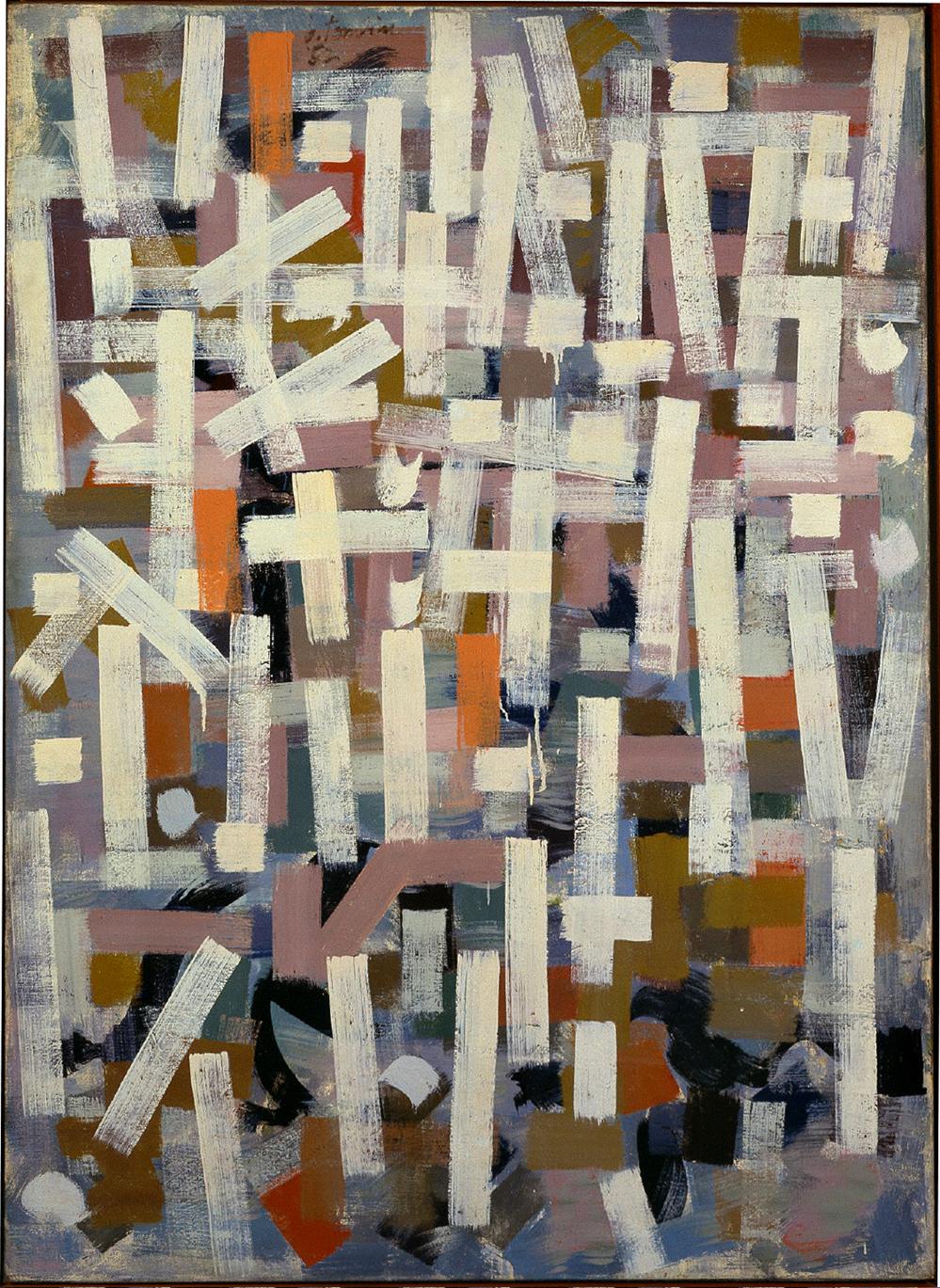 No. 12 (1952). Bradley Walker Tomlin. Oil on canvas