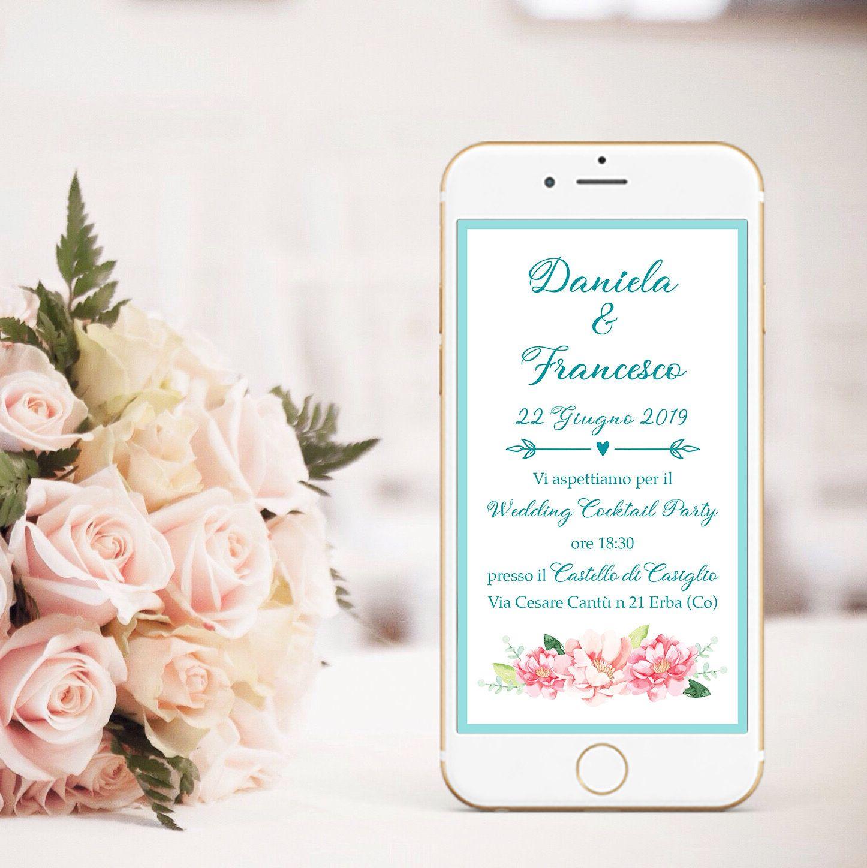 Partecipazioni Matrimonio Whatsapp.Save The Date Matrimonio Invito Digitale Matrimonio Invito