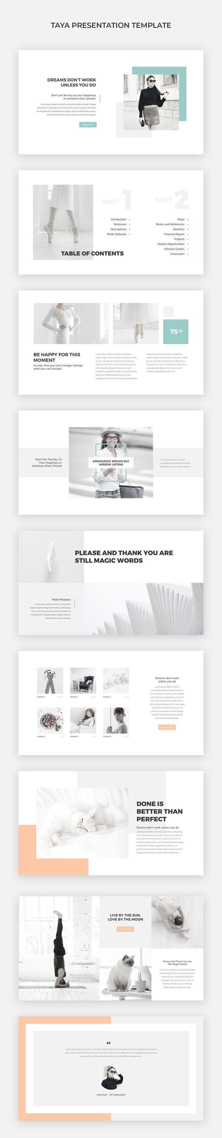 simple presentation template architecture