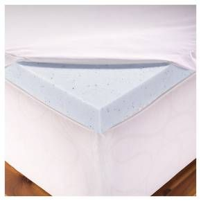 2 Gel Memory Foam Mattress Topper With Cover Authentic Comfort Target Memory Foam Mattress Cover Memory Foam Mattress Memory Foam Mattress Topper