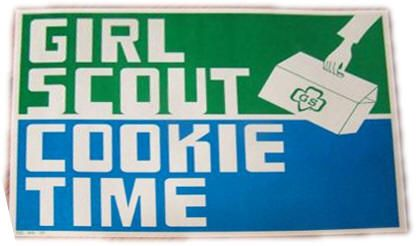 1971 girl scout cookie poster vintage girl scouts