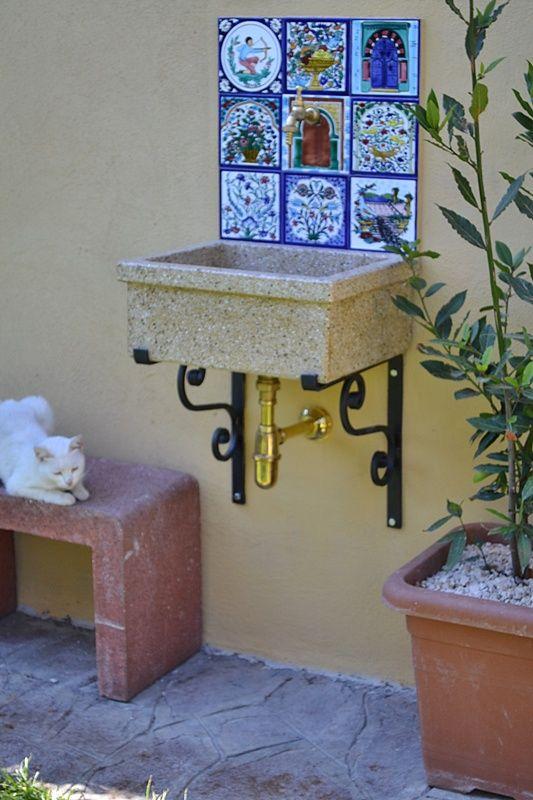 Lavandino da esterno. Lavello da giardino, Lavello