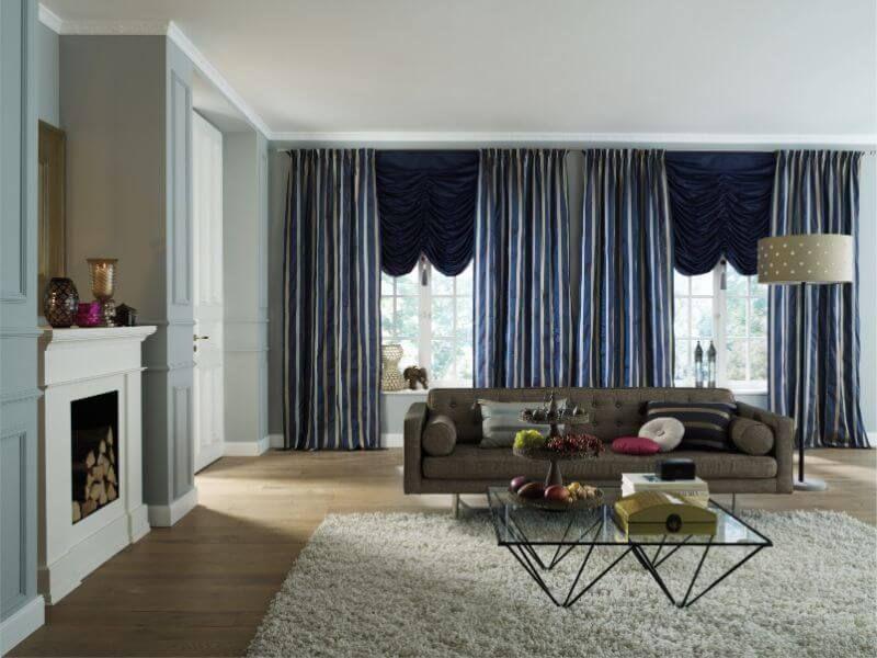 wohnzimmer gardine elegantes blau ❤ Vielfältige Plissees - gardinen fürs wohnzimmer