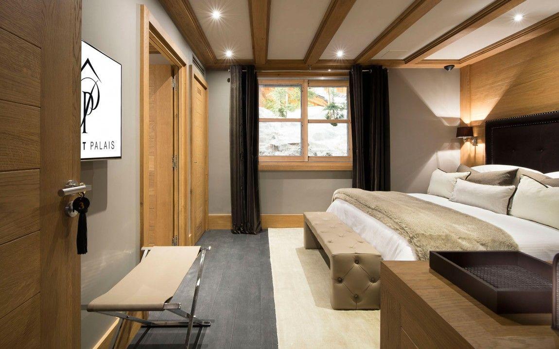 Second bedroom as part of inspiring modern chalet interior