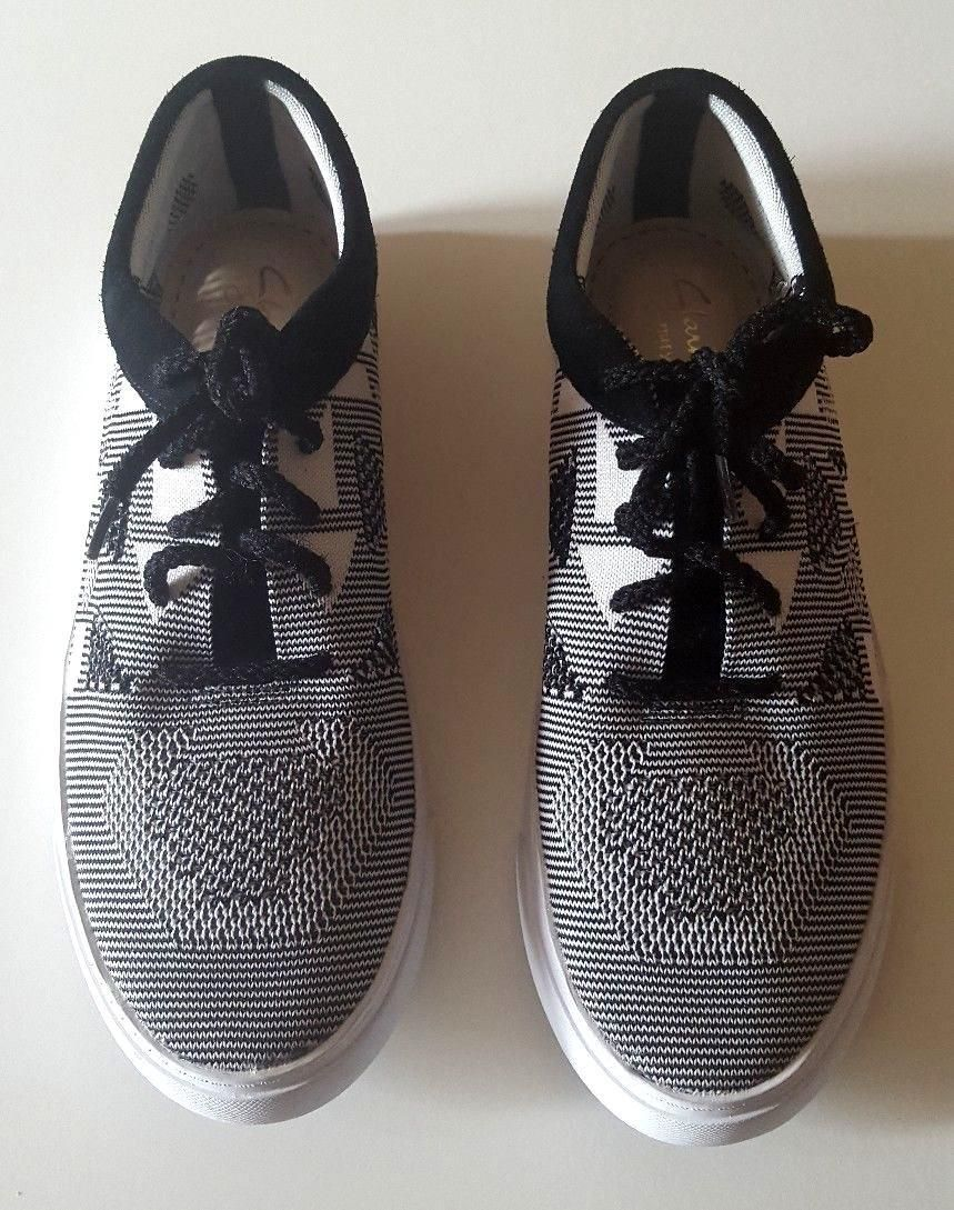 868e041ff4bd Clarks Somerset Grey Knit Mesh Pumps Loafers Lace Up Trainers Shoes Size 5  D UK
