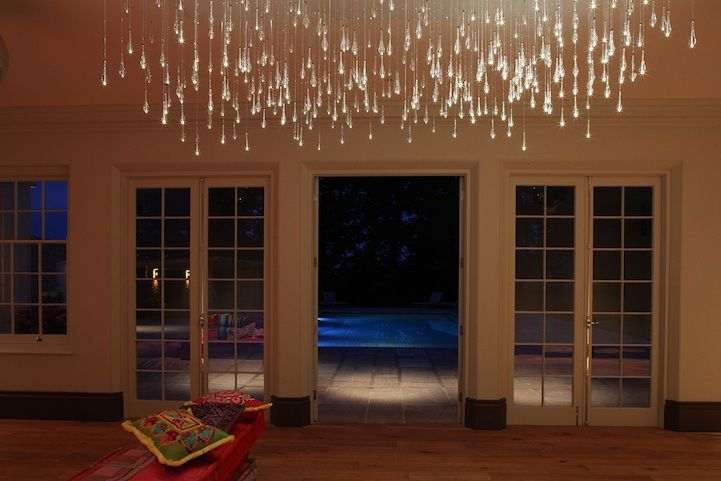 Gorgeous Light Shower Chandelier By Bruce Munro