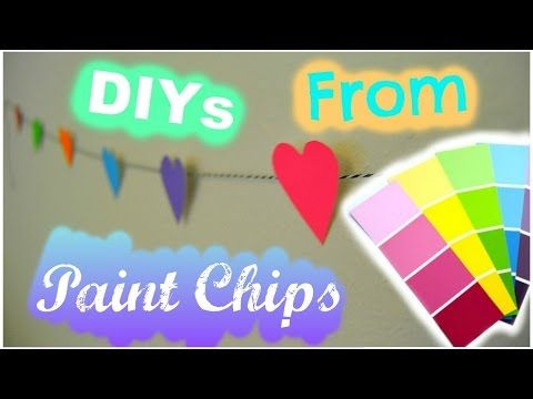 Diys From Paint Chips Paint Chips Paint Samples Chips
