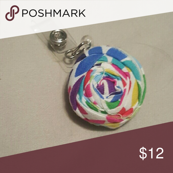 Name badge holder Handmade rose inspired colorful name badge holder handmade  Accessories Key & Card Holders