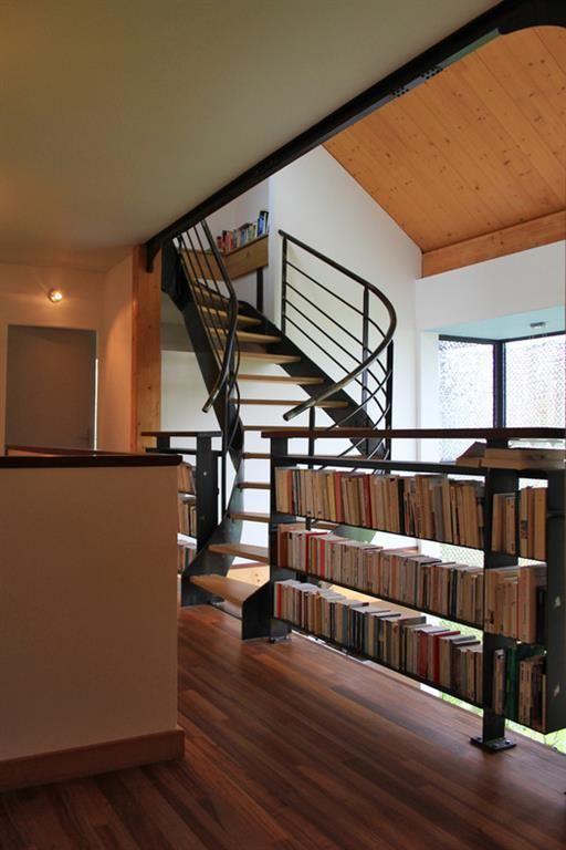 garde corps biblioth que sur le palier garde corps escaliers pinterest palier garde corps. Black Bedroom Furniture Sets. Home Design Ideas