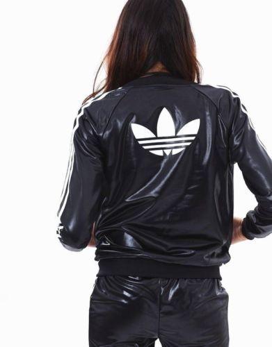 Nosotros: 6 Mujeres Adidas 2PC Wet Look Set Supergirl Track Top & Track