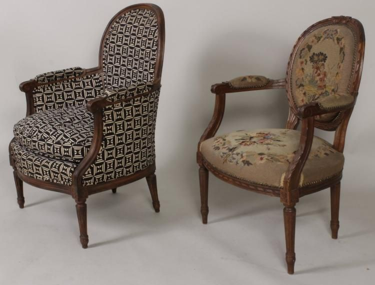 Two French Style Chairs, 20th C.