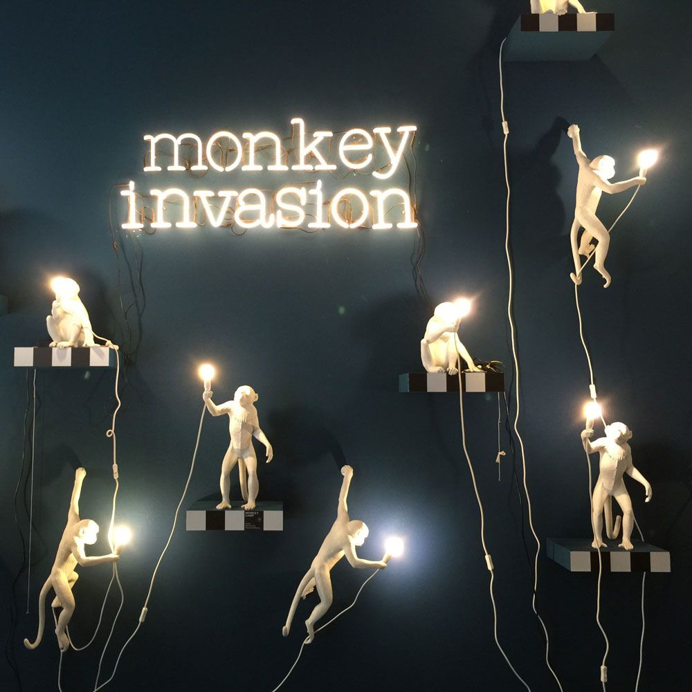 French monkey lamp - Seletti Monkey Lamp Hanging Panik Design Puoi Trovarlo Da Prime Home