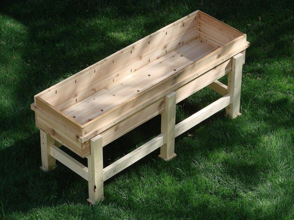 Garden and Patio DIY Recycled Wood Garden Planter Boxes With Legs