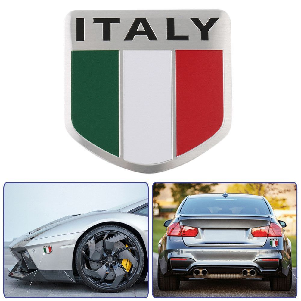 3D Aluminum Italy car Sticker Italy Flag Car-styling accessories Emblem stickers