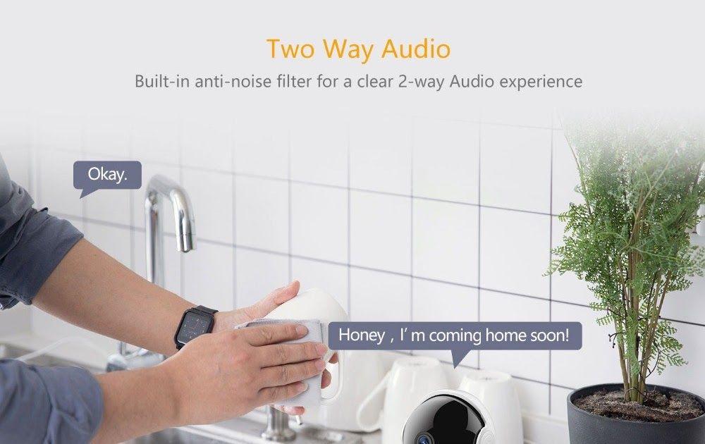 1080P HD Wireless IP Security Pan//Tilt//Zoom Indoor Surveil YI Cloud Home Camera