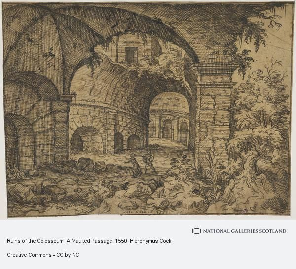 Ruins of the Colosseum: A Vaulted Passage (1550)