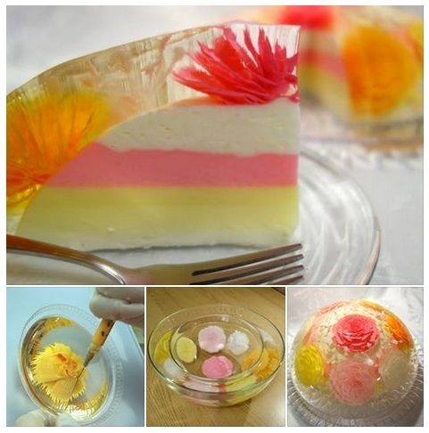 Learn How To Make Beautiful Edible Flowers In Clear Jelly It S Fun