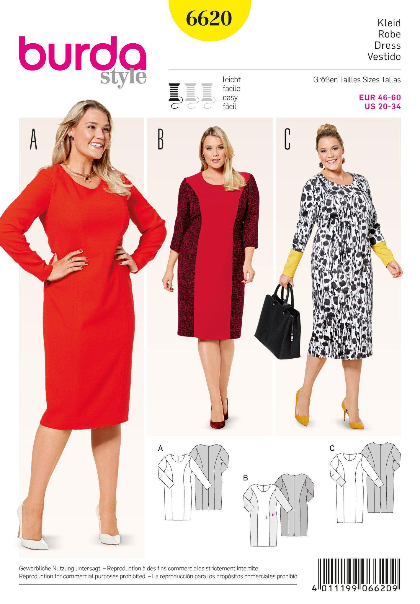 3346156da77b BD6620 Burda Style Pattern 6620 Dress in 2019 | Patterns I want ...