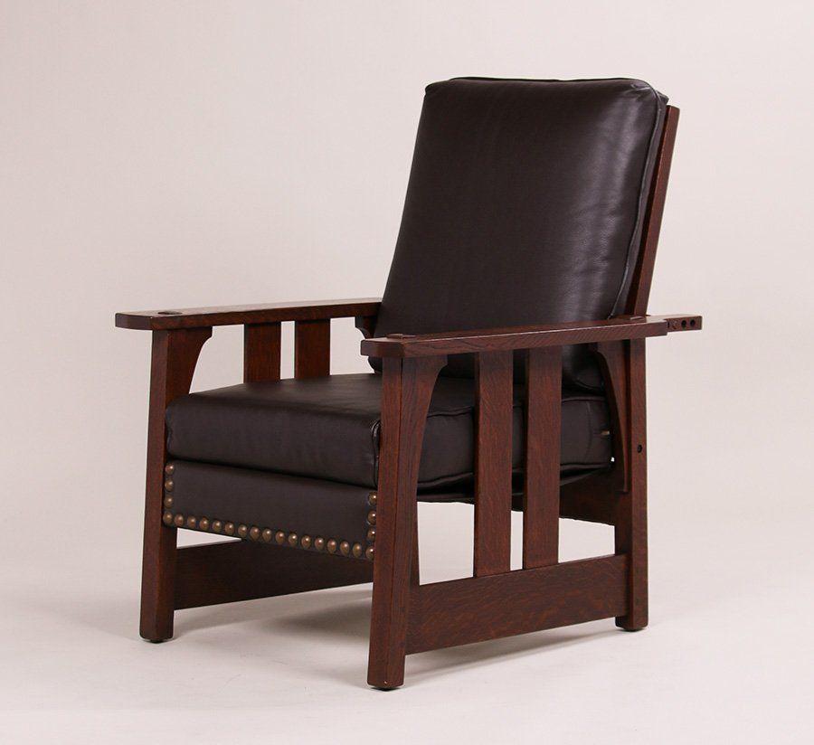 Fine Furniture Brand: Gustav Stickley #2341 Morris Chair C1903