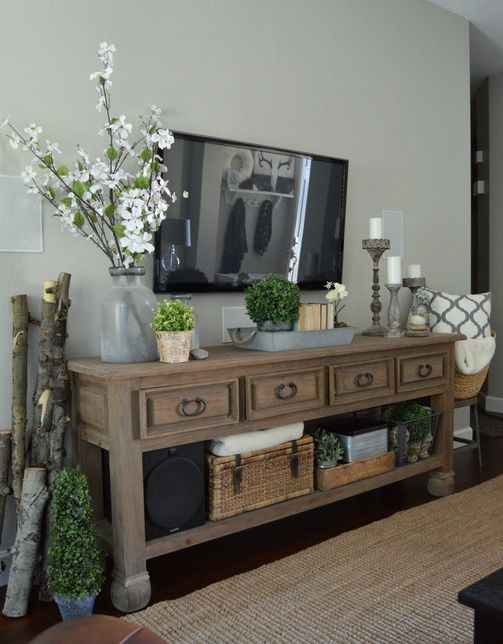 A Simple Spring Refresh | Rustic chic living room