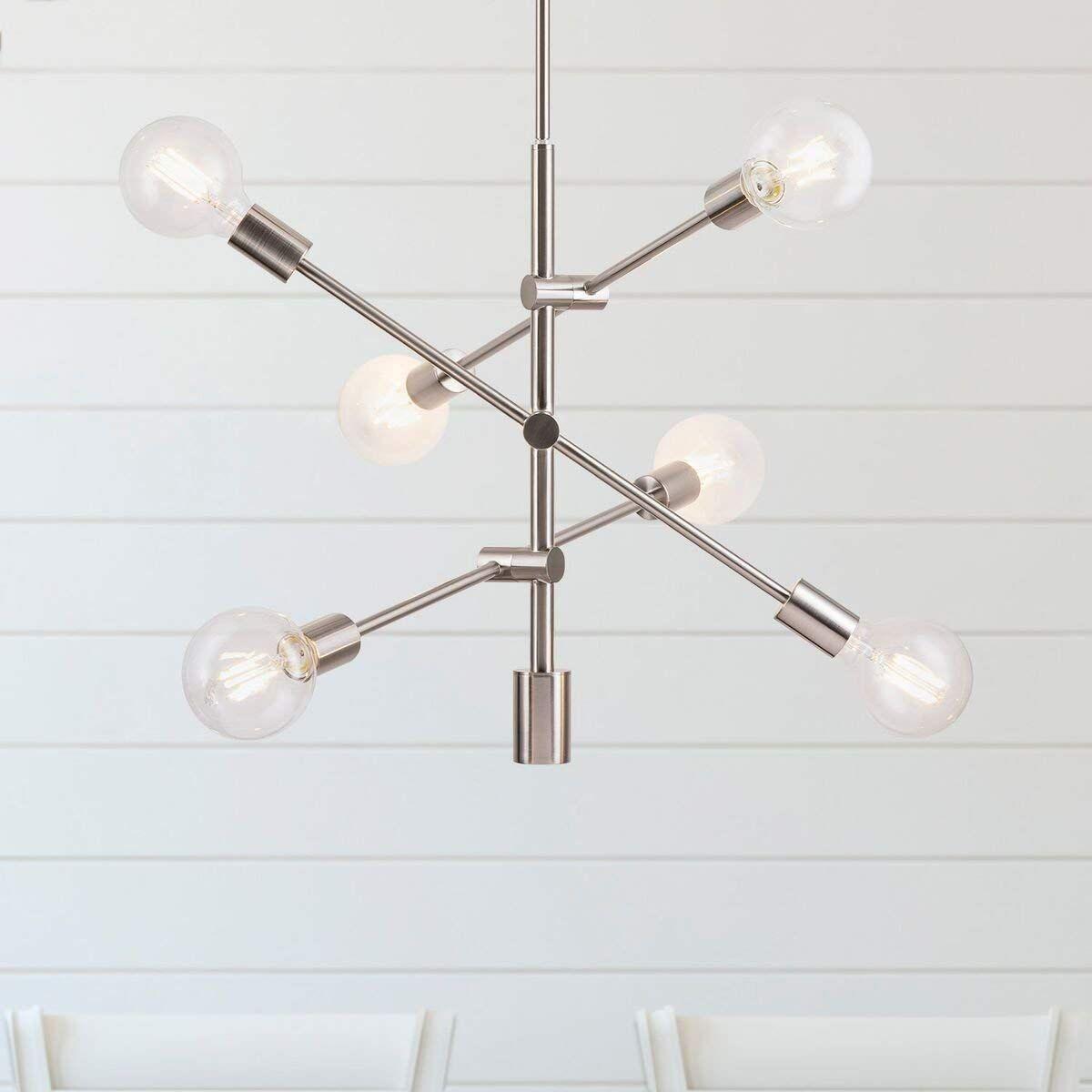 best loved aa296 f8989 Marabella LED Sputnik Chandelier Light Fixture, Brushed ...