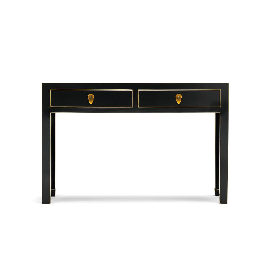 Everett Foyer Table Uk : Qing black and gilt large console table luxury ⇔ indoor