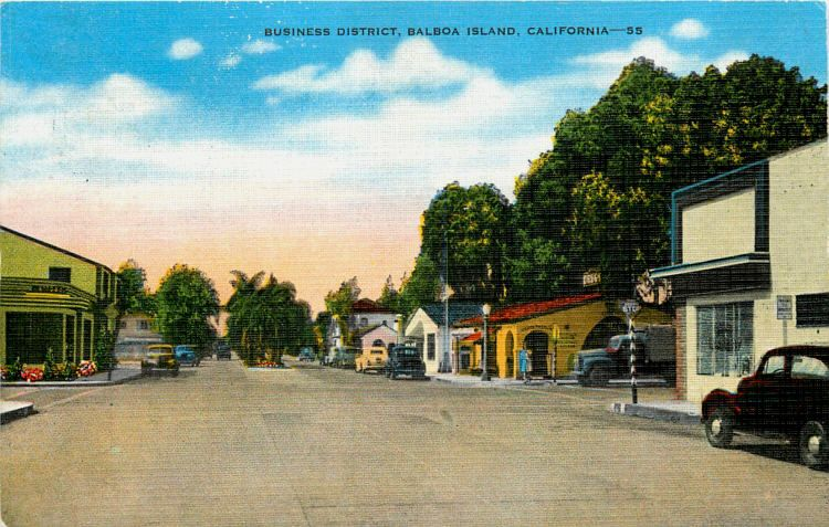 Balboa Island California Ca 1940s Downtown Post Office Vintage Postcard Moodys Collectible United State San Luis Obispo County Vintage Postcard California Ca