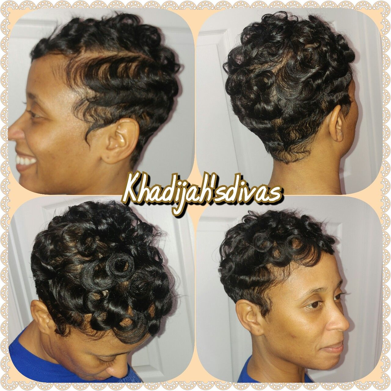 Finger Waves And Pin Curls Are A Great Style For Thin Hair It Last For A While As Well Short Hair Styles Hair Hairstyles For Thin Hair