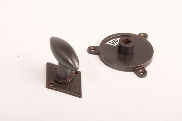 Toilet Vrij Bezet : Wc sluiting roest ovale knop zwart wit vrij bezet met ruit rozet