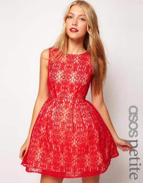 9648e76ea9 Women s Red Lace Dress with Cut Out Back