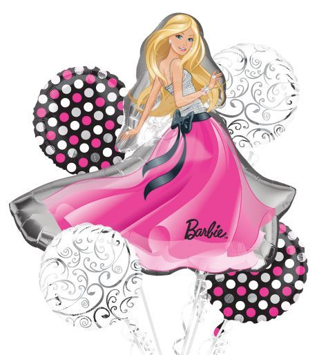 Glamour Barbie Balloon Bouquet includes:</b></p> - Party City