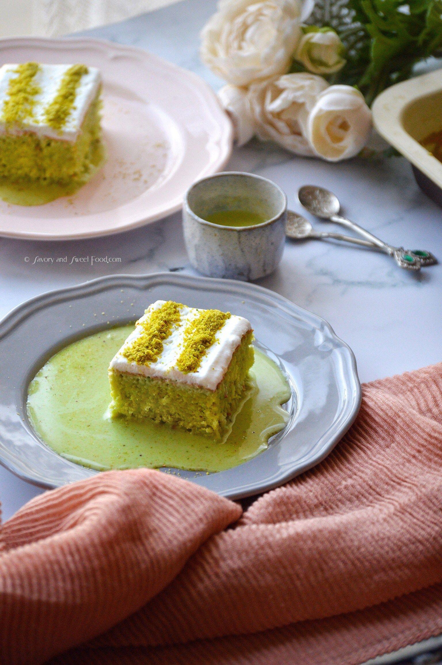 Pistachio Milk Cake/ Pistachio Tres Leches
