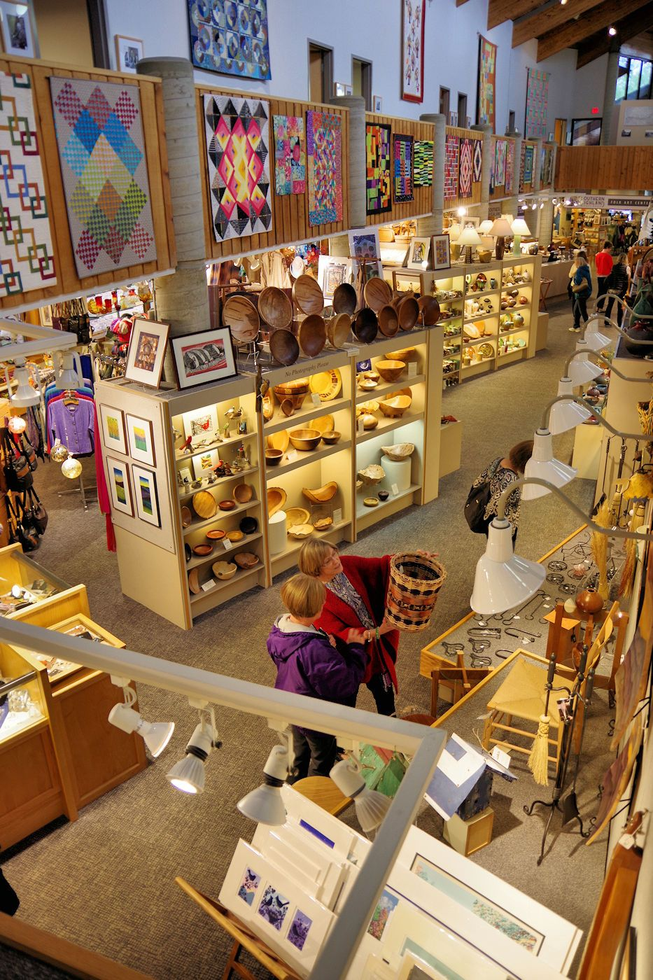 Folk art center with art and craft from 200 artists on