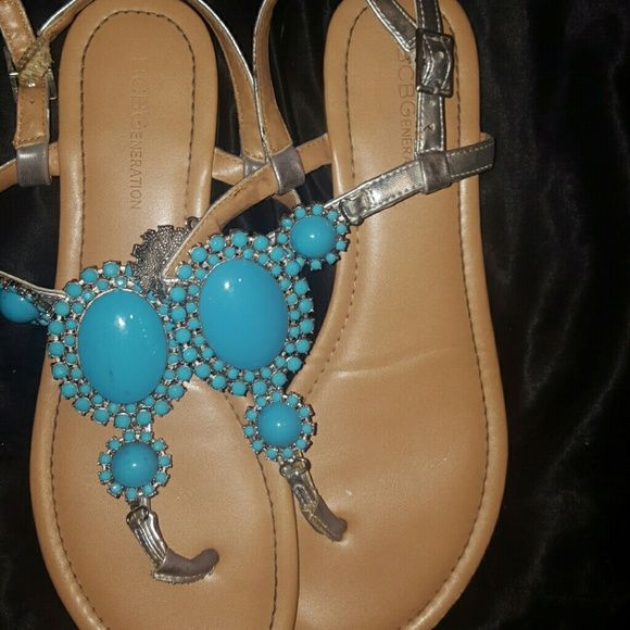 BCBG sandals Turquoise great condition they hold up well BCBGeneration Shoes Sandals