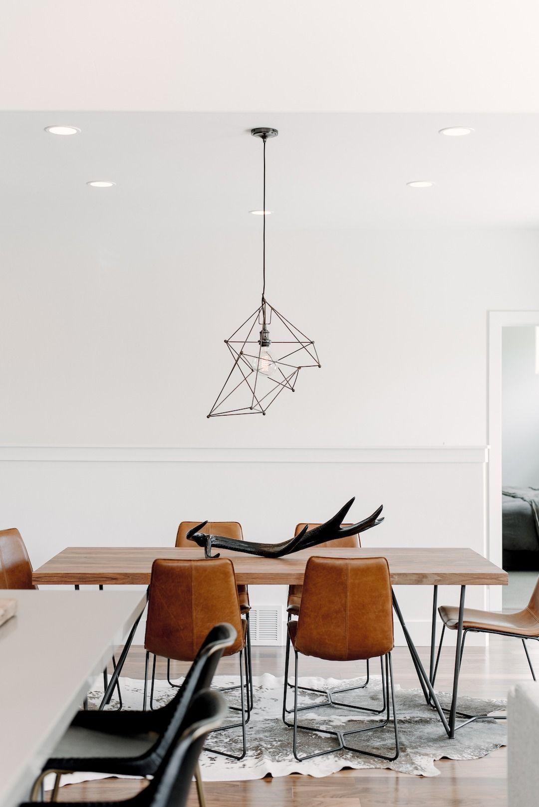 Modern Industrial Style In A Utah 4 Bedroom Dining Room Industrial Dining Room Chairs Modern Minimalist Dining Room