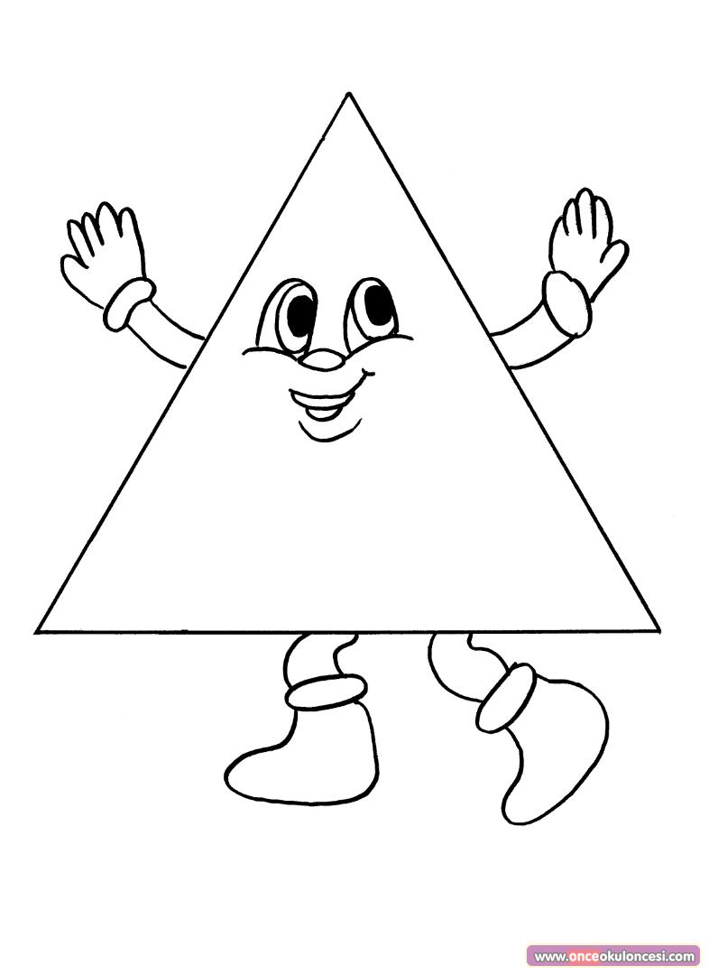 Geometrik şekiller Boyama Sayfası Hiramm Forme Geometriche