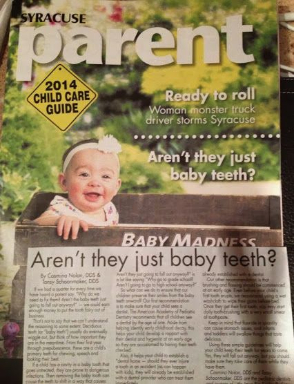 Pick up a copy of the Syracuse Parent magazine and check out our front page article!