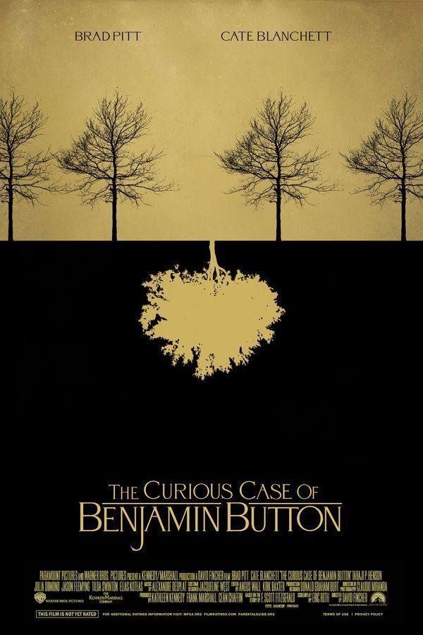 The Curious Case Of Benjamin Button 2008 Film Posters Minimalist Movie Posters Minimalist Movie Posters Design