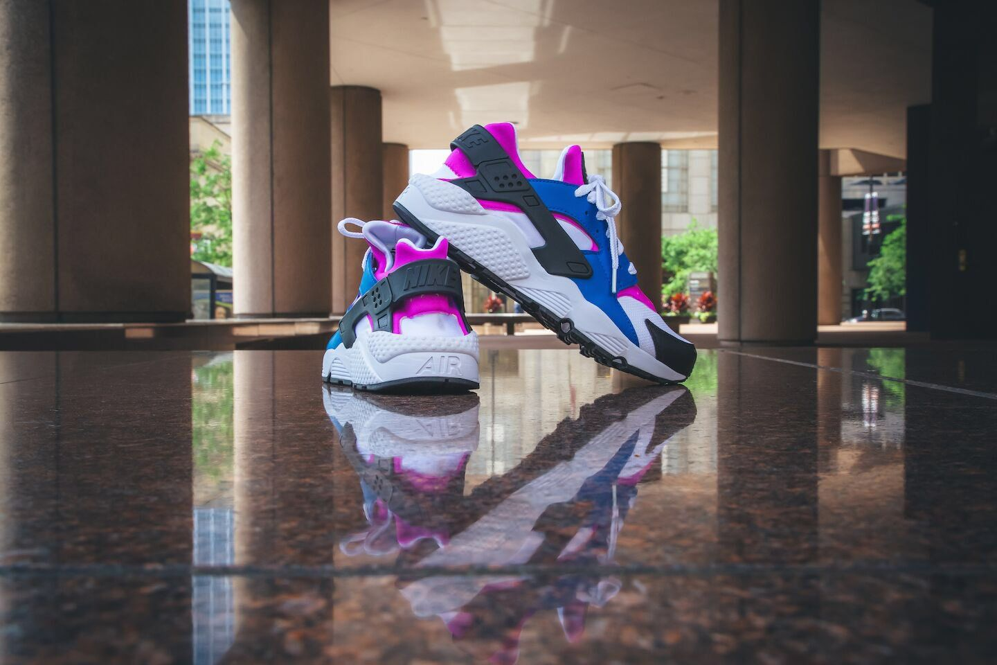"timeless design aba3f bf46b ""Nike Air Huarache 318429 415 BLUE JAY WHITE-HYPER VIOLET 110 now available"