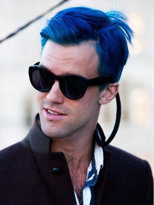 Super Awesome Dude Hair Bluehair Men Shair Mens Blue Hair
