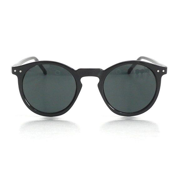 Mens Black Round Frame O'Malley Sunglasses // by AmericanDeadstock, $15.00
