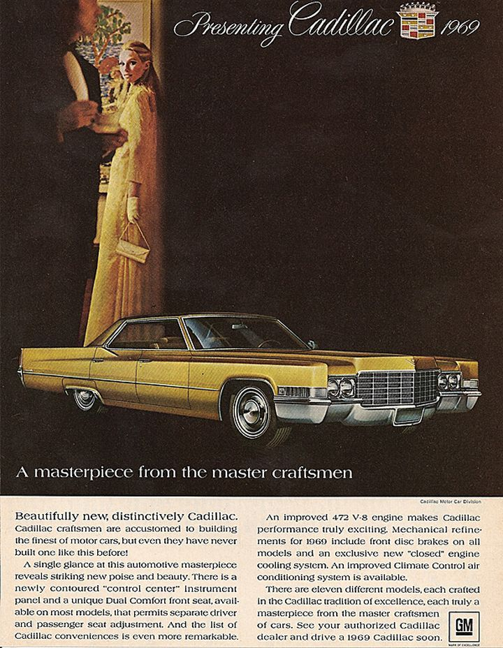 1969 Car Advertisement | Old Car Ads Home | Old Car Brochures