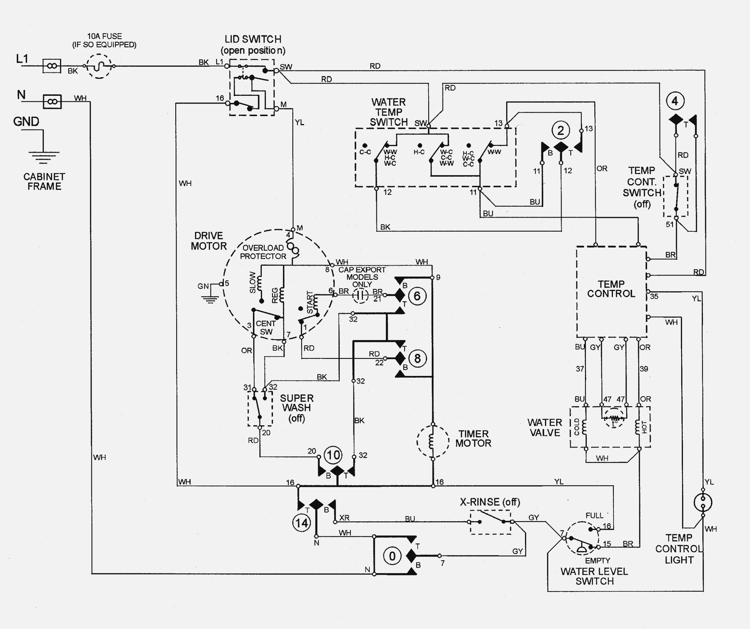 13 Wiring Diagram Of Washing Machine With Dryer References
