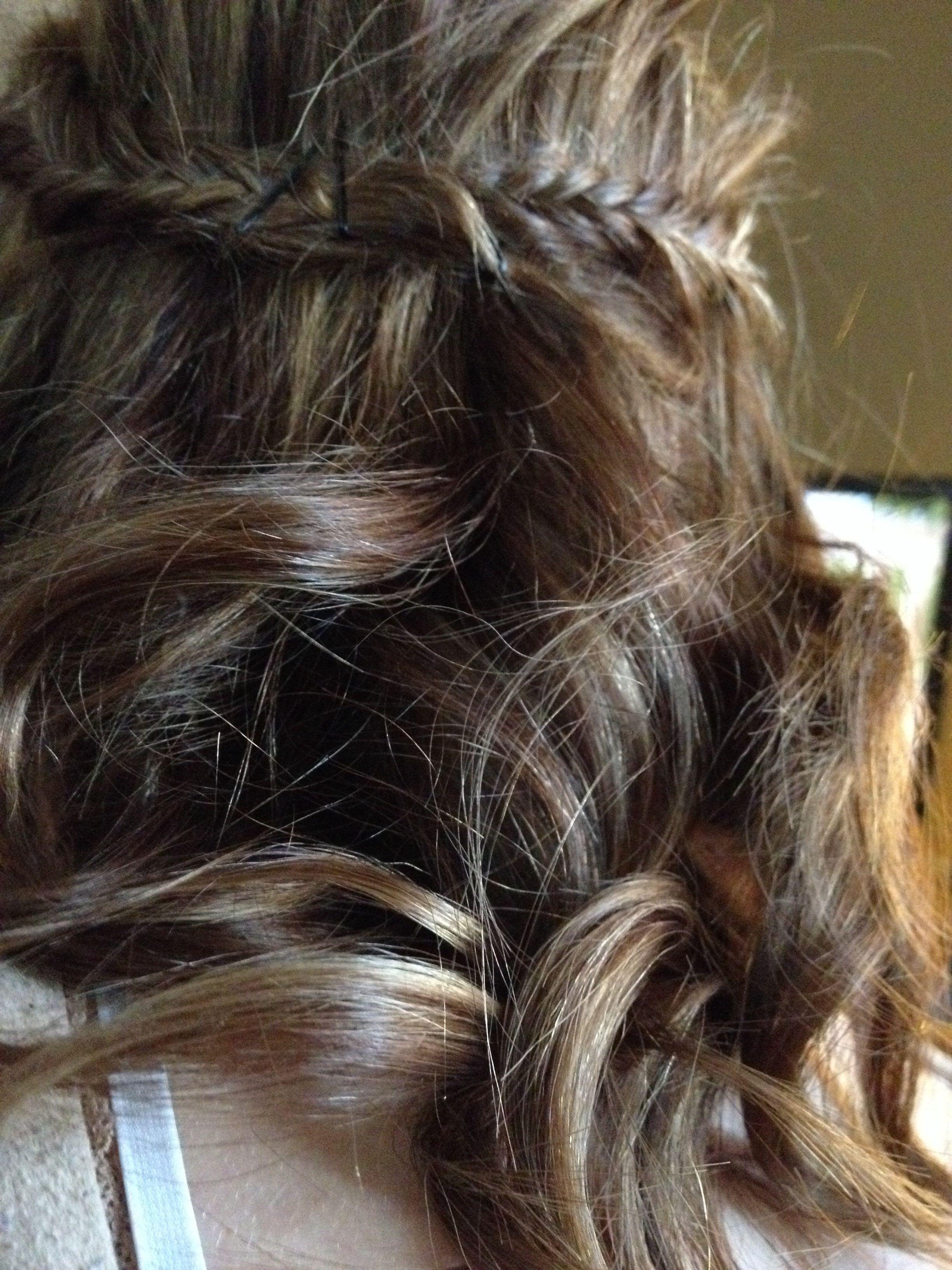 Fishtail braid with curls half up half down short hair hair stuff