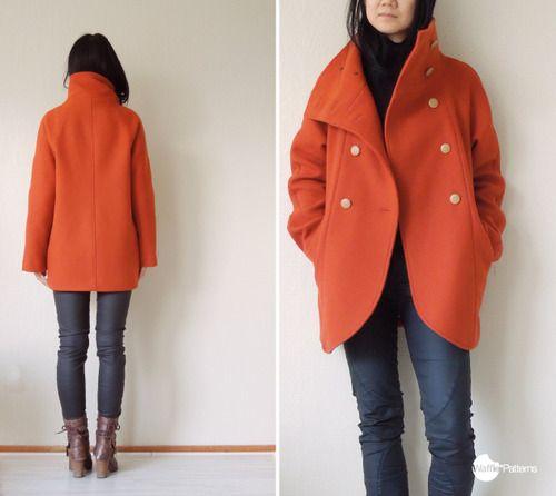 Raglan Coat Pattern Sewing, Ladies Winter Coat Sewing Pattern