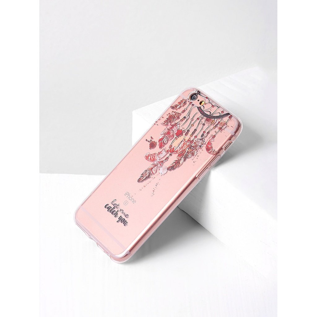 Clear dreamcatcher print iphone case sunshines boutique