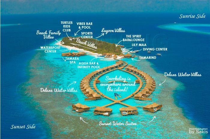 Lily Beach Maldives Resort Maps Maldives Resort Lily