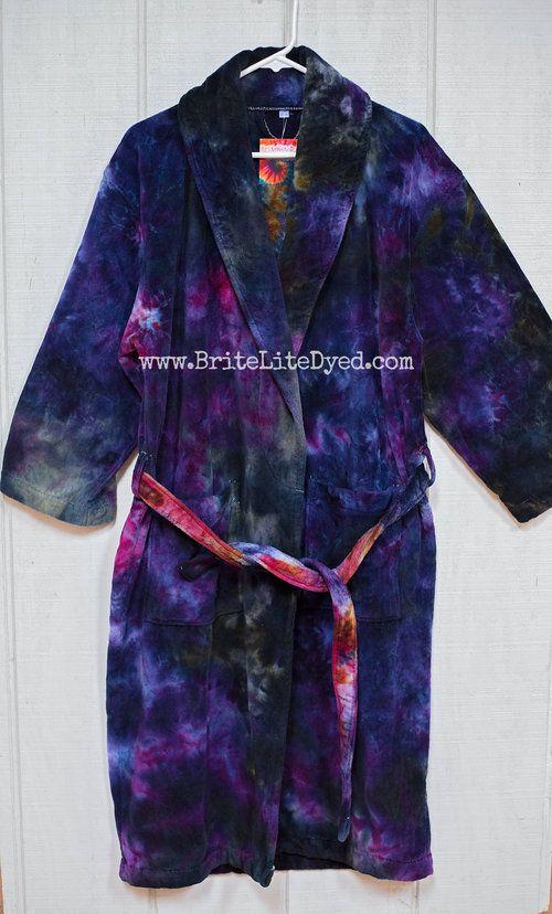 SMALL MEDIUM Tie Dye Robe - Tye Dye Robe - Cotton Robe - Bathroom Robe -  House Robe - Bath Robe 8f74f88c1