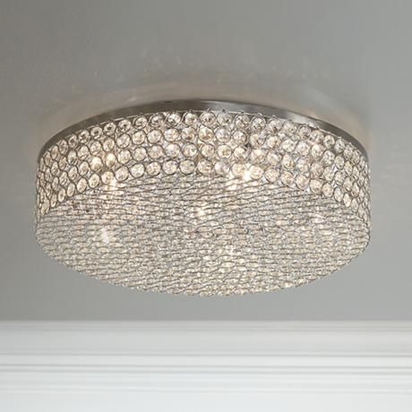 Velie 16 Wide Round Crystal Ceiling Light 3c750 Lamps Plus Ceiling Lights Crystal Ceiling Light Modern Ceiling Light Crystal ceiling light fixtures