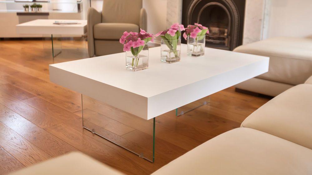 Aria large white oak coffee table white oak coffee table